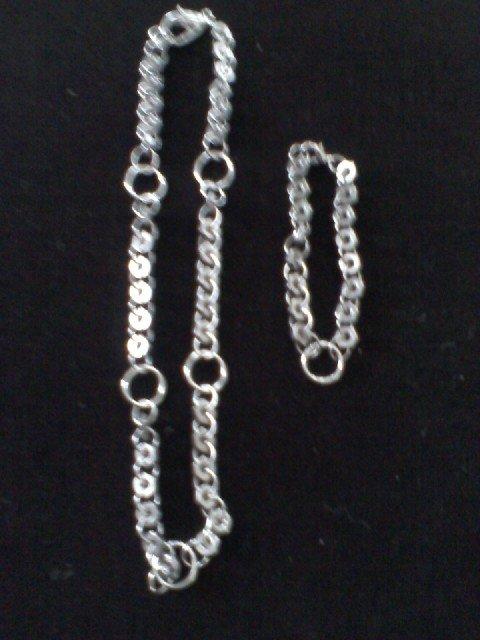 """Oh Nuts"" Hardware Necklace and Bracelet Set"