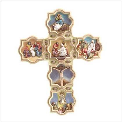Alabastrite Life of Jesus Wall Cross