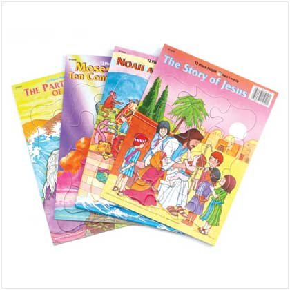 Bible Story Tray Puzzles for Children
