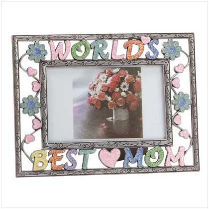 "Colorful ""Worlds Best Mom"" Frame"