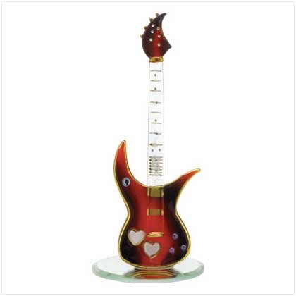 Glass Guitar on Base