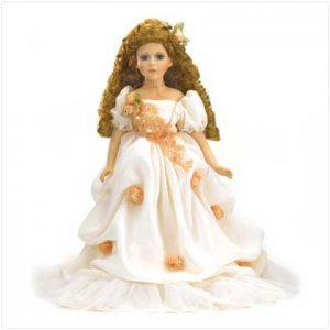 Victorian Doll In Peach Colored Dress