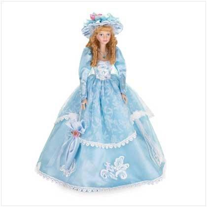 Porcelain Doll In Blue Dress