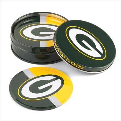 Green Bay Packers Tin Coaster Set