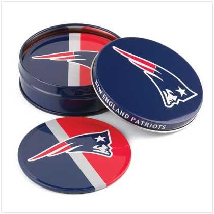 New England Patriots Tin Coaster Set