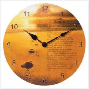 God's Footprints Clock