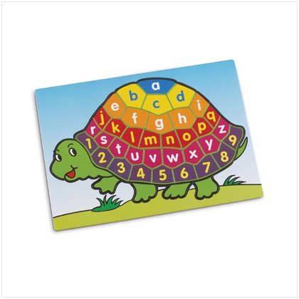 Turtle Alphabet And Number Puzzle