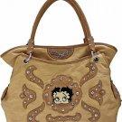 Brown Betty Boop fashion tote/rhinestones w/ Wallet