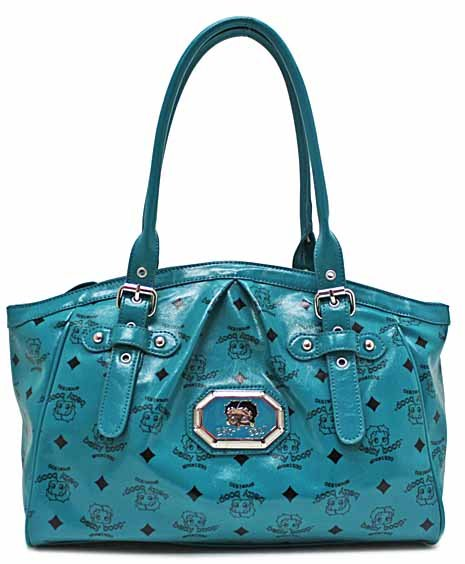 Betty Boop Turquoise simulated leather fashion tote w/ Wallet