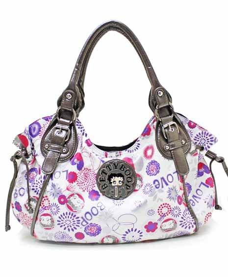 Betty Boop Flower design fashion satchel