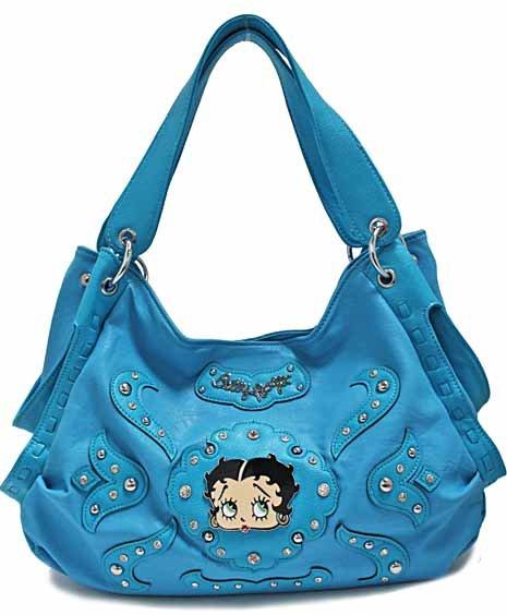 Betty Boop fashion tote/rhinestones w/ Wallet
