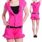 Ladies Rumper with ruffles (cn014991)