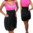 Party dress with rhinestone design (S24-DRS-0246)