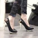 Metal Chain Embellished High Heel Pumps sz 4.5-7 (CD11052235)