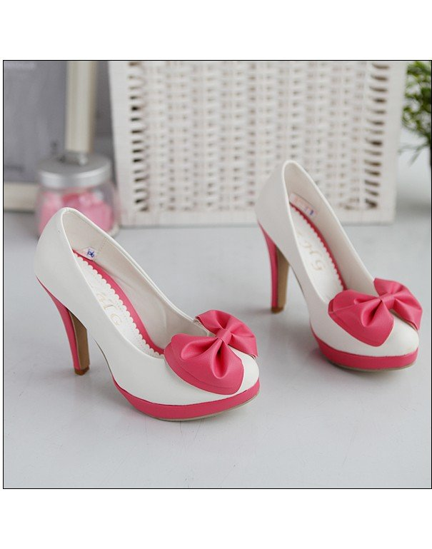 Bowknot Embellished High Heels sz 4.5-7 (CD11032921-1)