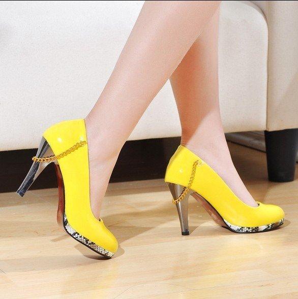 Chain Embellished High Heels sz 4.5-7 (cd11032604-2)