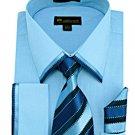 Mens blue Dress Shirt (SG23blue-h)