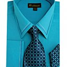 Mens Turquoise Dress Shirt (SG22T-H)
