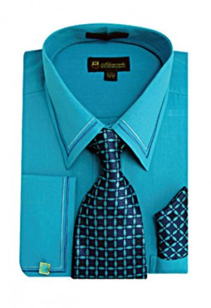 Mens Turquoise Dress Shirt Sg22t H