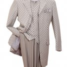 Mens Silver check Suit (2910V-SIL)