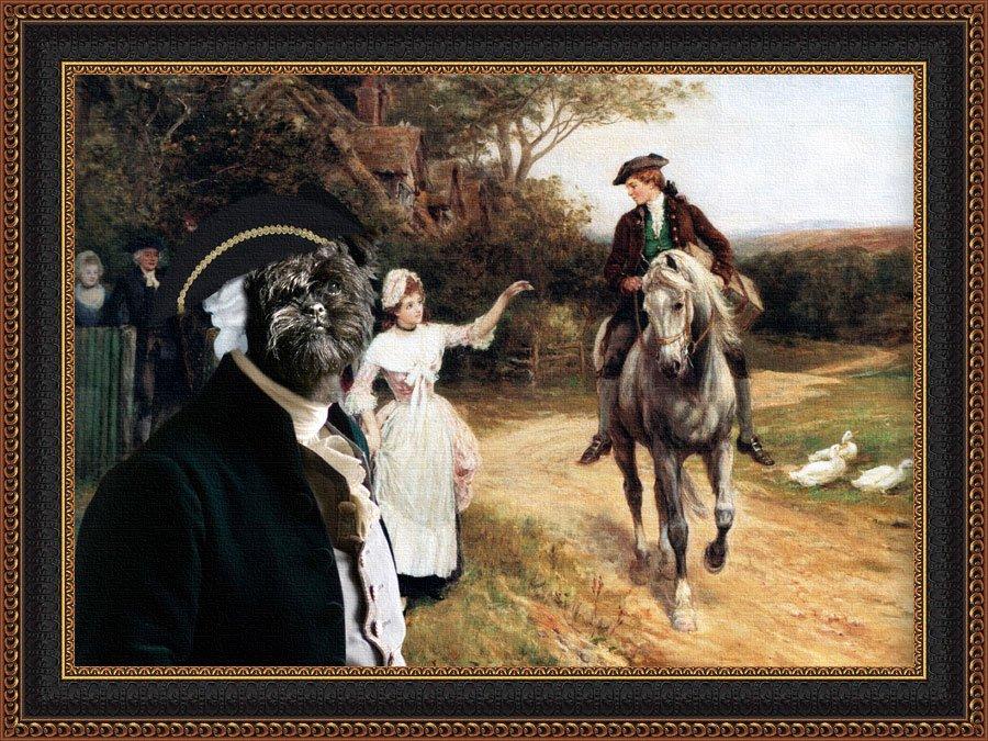 Affenpinscher Fine Art Canvas Print - Leaving Home