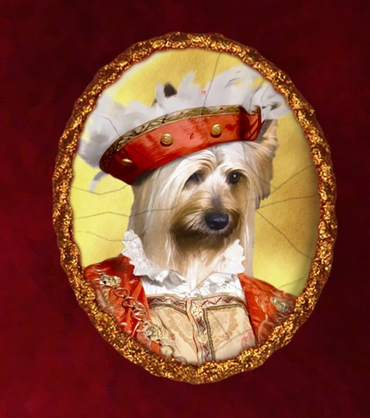 Silky Terrier Jewelry Brooch Handcrafted Ceramic - Young Duke