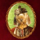 Fawn Brittany Basset Jewelry Brooch Handcrafted Ceramic - King