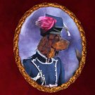 Picardy Spaniel Jewelry Brooch Handcrafted Ceramic - Noble Lady