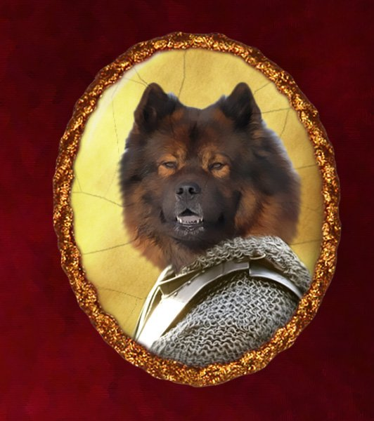 Eurasier Jewelry Brooch Handcrafted Ceramic - Warrior