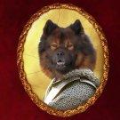 Eurasier Jewelry Brooch Handcrafted Ceramic - Warrior