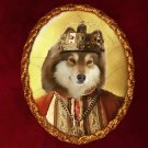 Finnish Lapphund Jewelry Brooch Handcrafted Ceramic - King