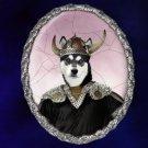 Finnish Reindeer Herder Jewelry Brooch Handcrafted Ceramic - Viking