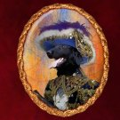 Flat Coated Retriever Jewelry Brooch Handcrafted Ceramic - Pirate