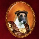 Fox Terrier Jewelry Brooch Handcrafted Ceramic - Middle Age Lady