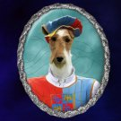 Fox Terrier Jewelry Brooch Handcrafted Ceramic - Trubadoure
