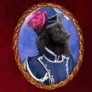 Spitz Jewelry Brooch Handcrafted Ceramic - Hussar Lady