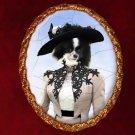 Spitz Jewelry Brooch Handcrafted Ceramic - Retro Lady