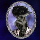 Giant Schnauzer Jewelry Brooch Handcrafted Ceramic - Black Lady