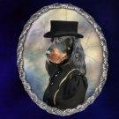 Gordon Setter Jewelry Brooch Handcrafted Ceramic - Hunter Lady