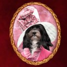 Havanese Jewelry Brooch Handcrafted Ceramic - Pink Lady
