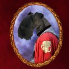 Kerry Blue Terrier Jewelry Brooch Handcrafted Ceramic - Knight