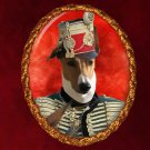 Hungarian Greyhound Jewelry Brooch Handcrafted Ceramic -  Hussar