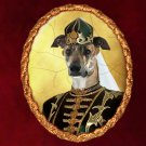 Hungarian Greyhound Jewelry Brooch Handcrafted Ceramic - Lady Hussar