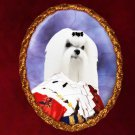 Maltese Jewelry Brooch Handcrafted Ceramic - King