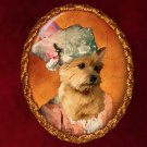 Norwich Terrier Jewelry Brooch Handcrafted Ceramic - Princess