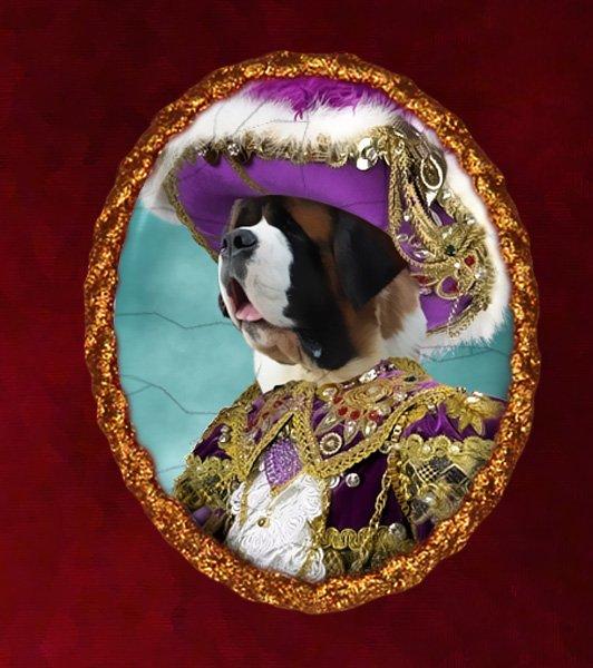 Saint Bernard Jewelry Brooch Handcrafted Ceramic - Riche Pirate