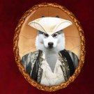 Siberian Husky Jewelry Brooch Handcrafted Ceramic - Baron
