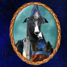 Spanish Greyhound Jewelry Brooch Handcrafted Ceramic - Soldier