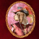 Spinone Italiano Jewelry Brooch Handcrafted Ceramic -  Musketeer