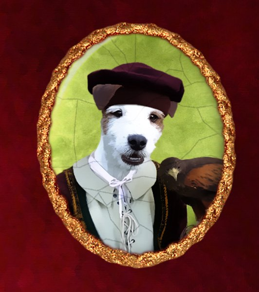 Parson Russell Terrier Jewelry Brooch Handcrafted Ceramic - Falconer